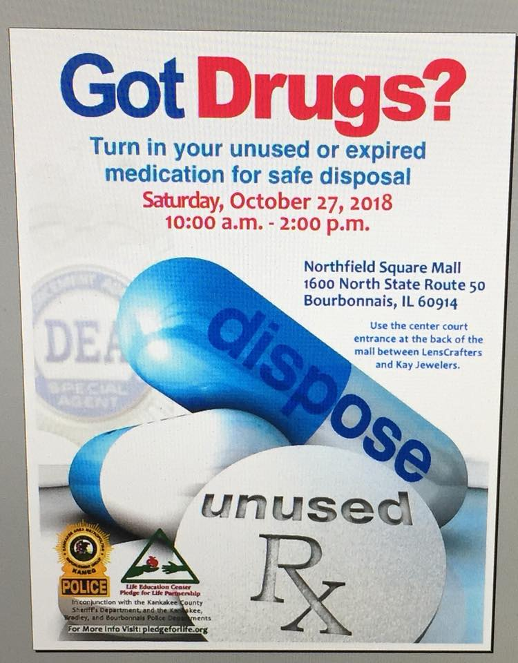 Drug take back day! KAMEG @ Northfield Square Mall | Bourbonnais | Illinois | United States