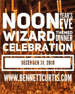 Noon Year's Eve- Wizard Dinner @ The Bennett-Curtis House