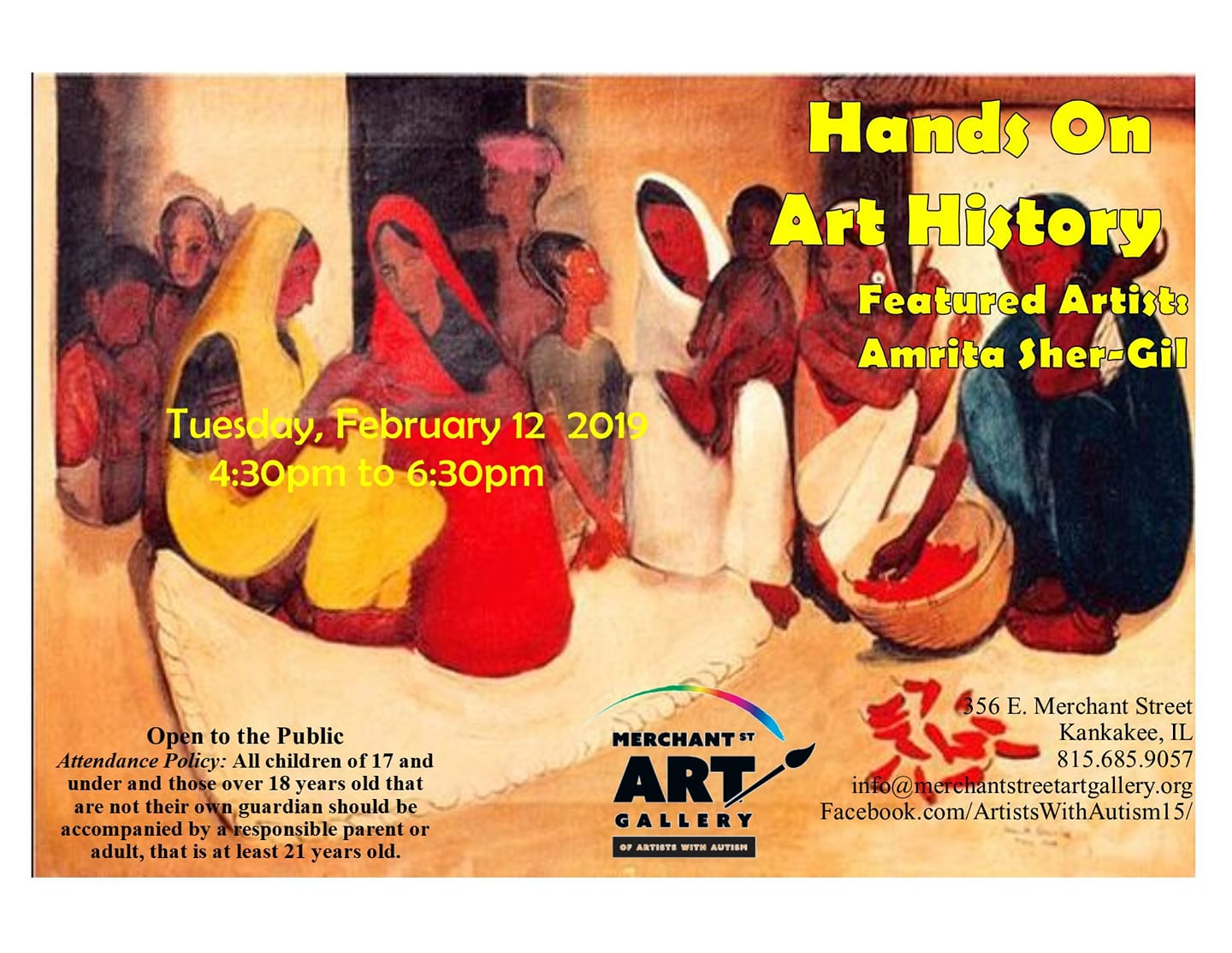 Hands on Art History @ Merchant Street Art Gallery of Artists with Autism