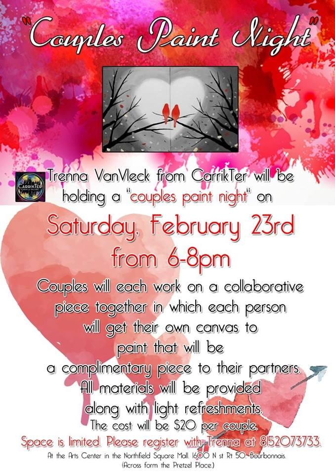 Couples Paint Night at the Arts Center @ Arts Center of Kankakee County