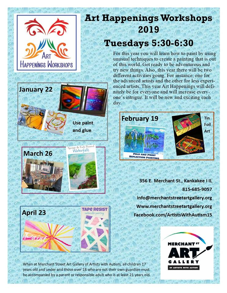Art Happenings Workshops 2019