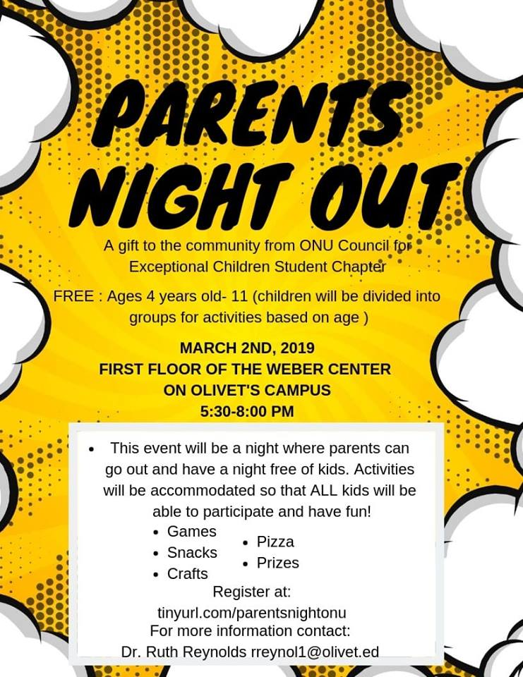 Parents Night Out @ Olivet's Campus