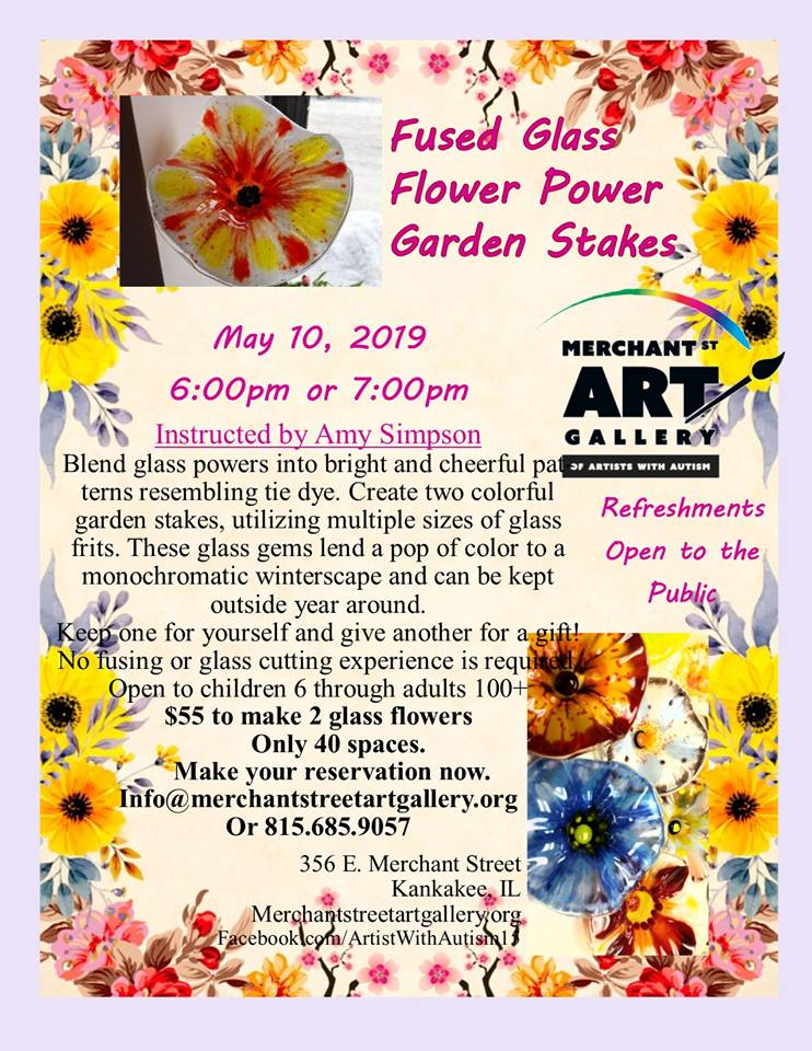 Fused Glass Flower Power @ Merchant Street Art Gallery of Artists with Autism