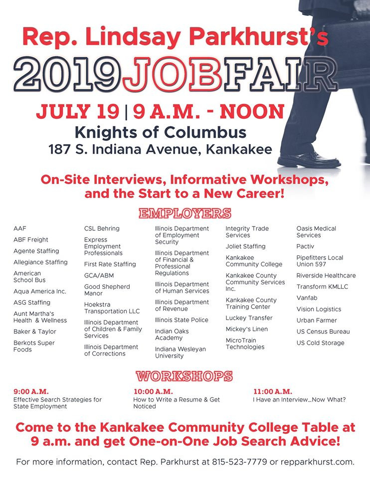 2019 Jobs Fair @ Cameo Room by the Knights of Columbus  | Kankakee | Illinois | United States