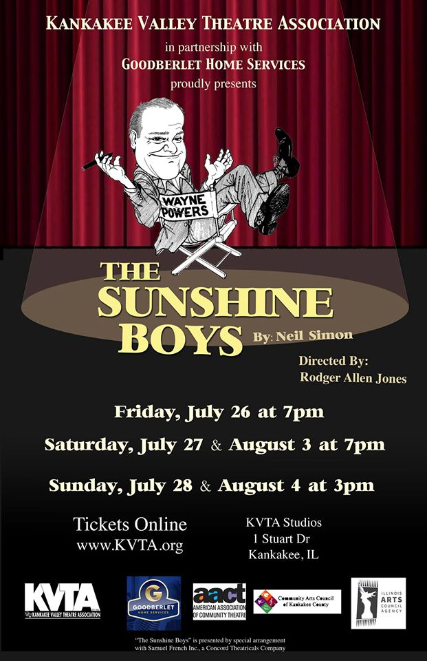 KVTA's The Sunshine Boys @ Kankakee Valley Theatre Association