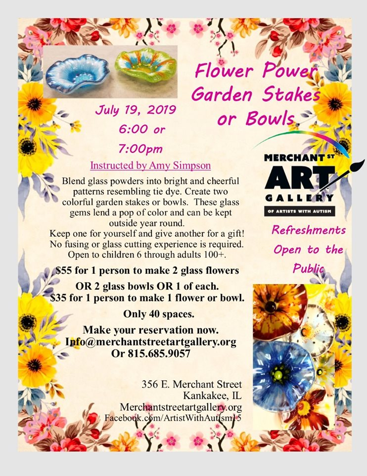 Flower Power Garden Stakes or Bowls