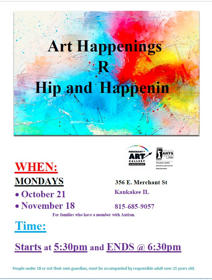 Art Happenings R Hip and Happenin @ Merchant Street Art Gallery of Artists with Autism