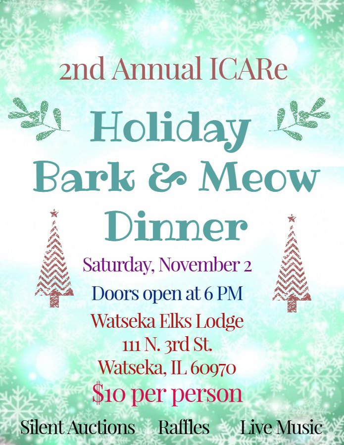 2nd Annual Holiday Bark and Meow Dinner @ Watseka Elks Lodge No. 1791 | Watseka | Illinois | United States