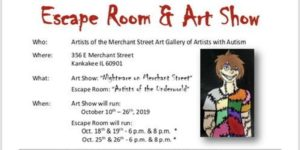 """Nightmare on Merchant Street"" Escape Room and Art Show @ Merchant Street Art Gallery of Artists with Autism"