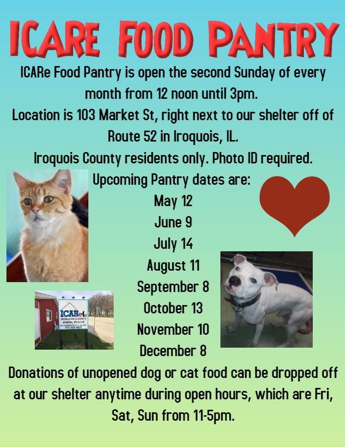 Food Pantry @ Iroquois County Animal Rescue