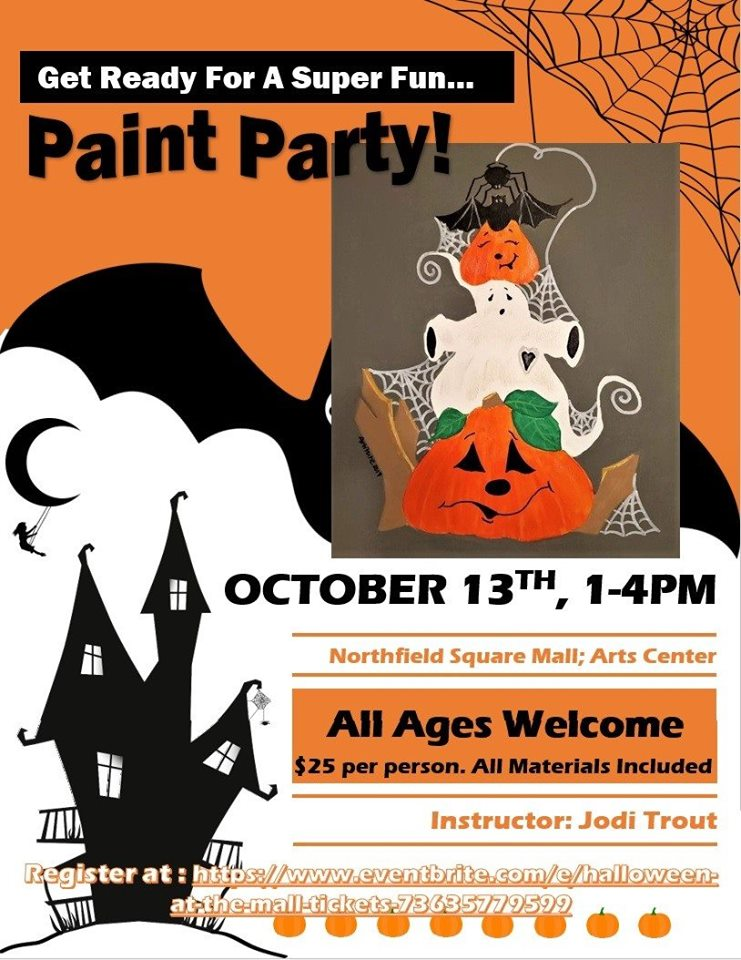 Halloween Painting with Jodi Trout @ Arts Center of Kankakee County