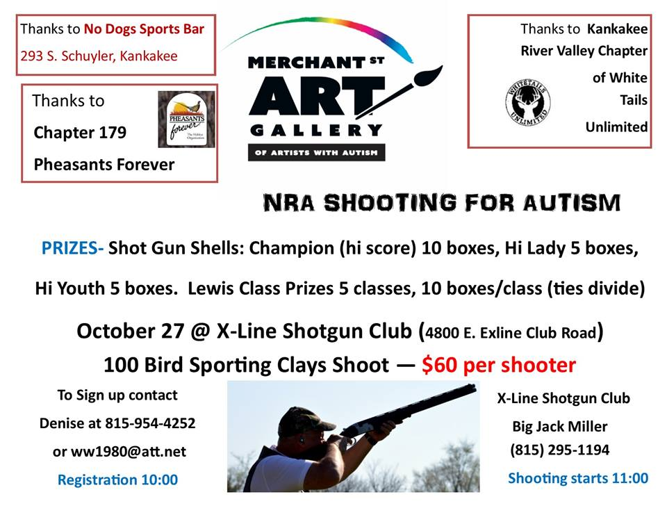 TRAPSHOOTING FOR AUTISM @ Oliver's Bar & Grill in Bradley