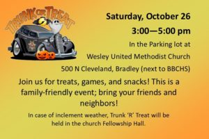 Trunk or Treat @ Bradley Wesley United Methodist Church