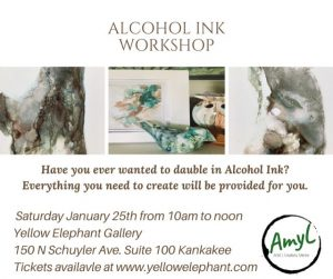 Alcohol Ink Workshop @ Yellow Elephant Gallery & Gift Shop | Kankakee | Illinois | United States