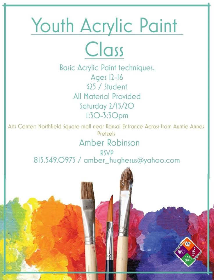 Youth Acrylic Paint Class w/Amber @ Arts Center of Kankakee County