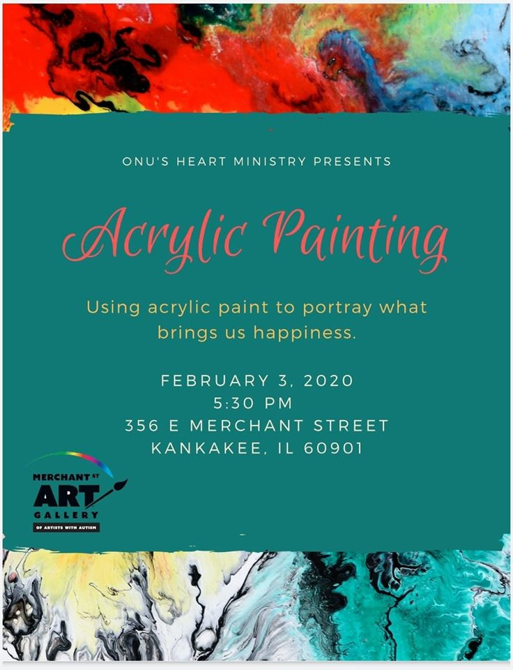Acrylic Painting With HEART Ministries @ Merchant Street Art Gallery of Artists with Autism