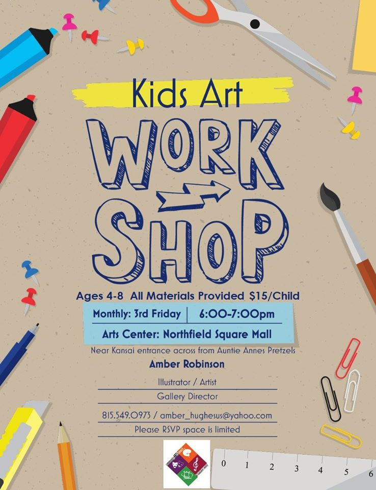 Kids Art Work Shop w Amber @ Arts Center of Kankakee County