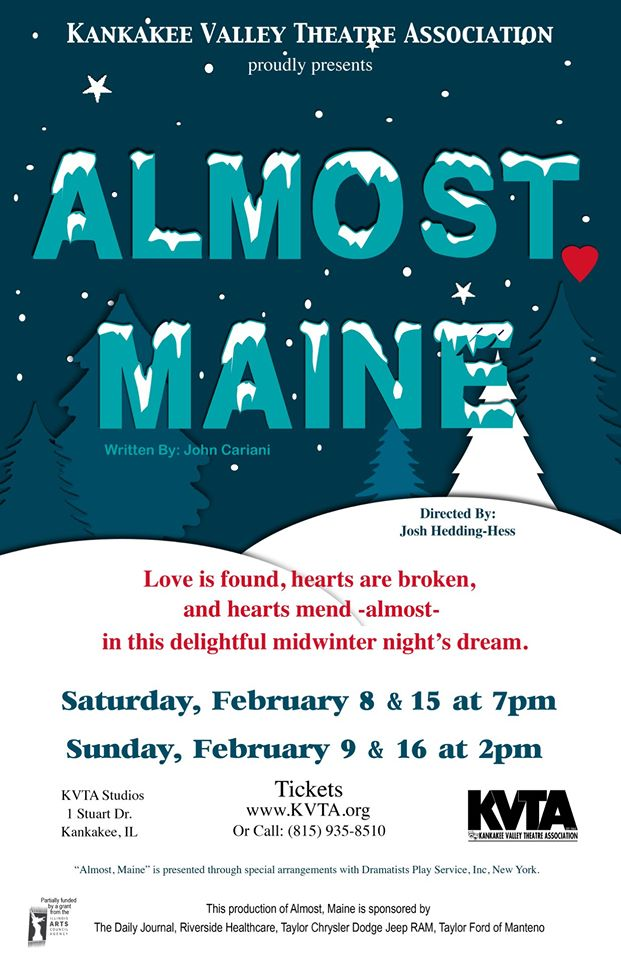 KVTA's Almost, Maine @ Kankakee Valley Theatre Association