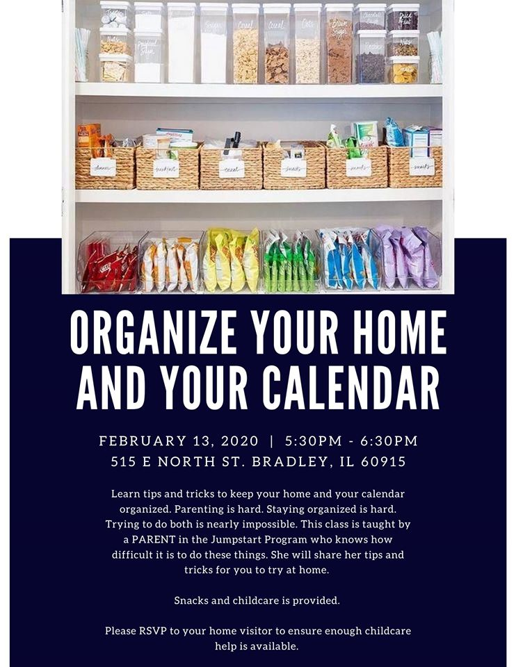 Organize your Home and Calendar @ 515 E North St, Bradley, IL