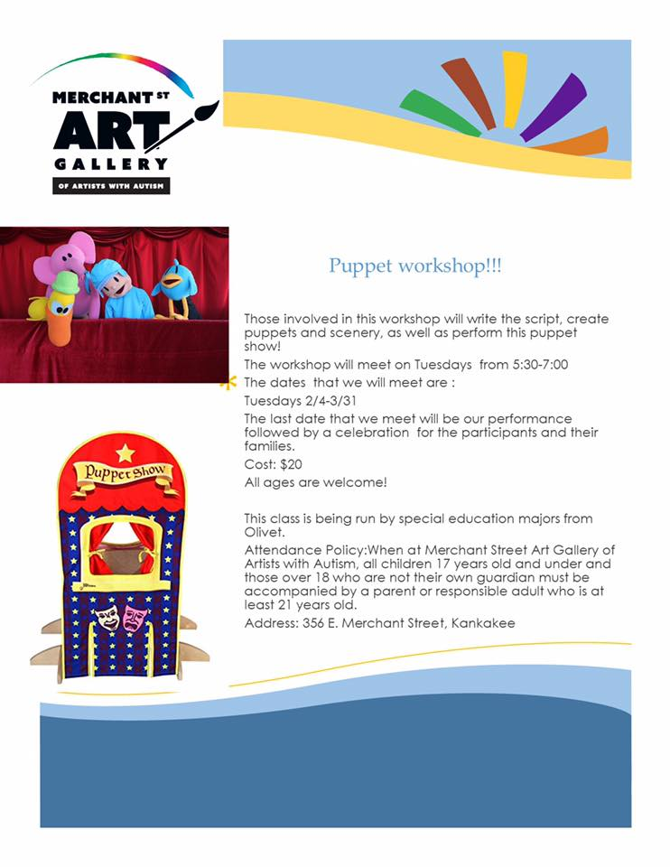 Puppet workshop @ Merchant Street Art Gallery of Artists with Autism