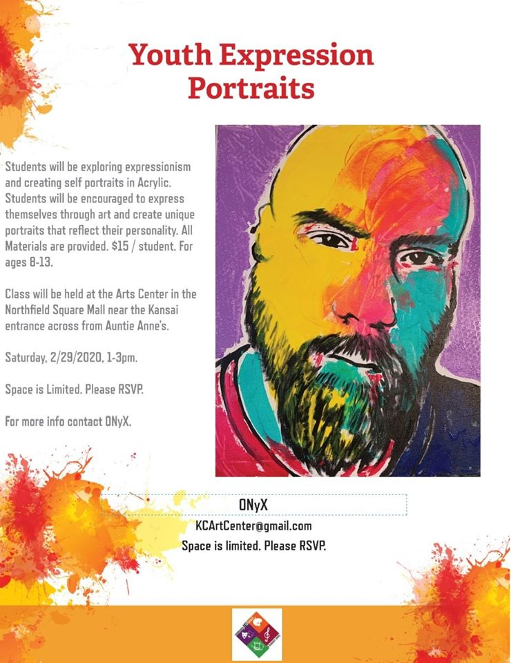 Youth Expression Portraits w/ Onyx @ Arts Center of Kankakee County
