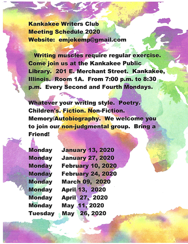 Kankakee Writers Club @ Kankakee Public Library