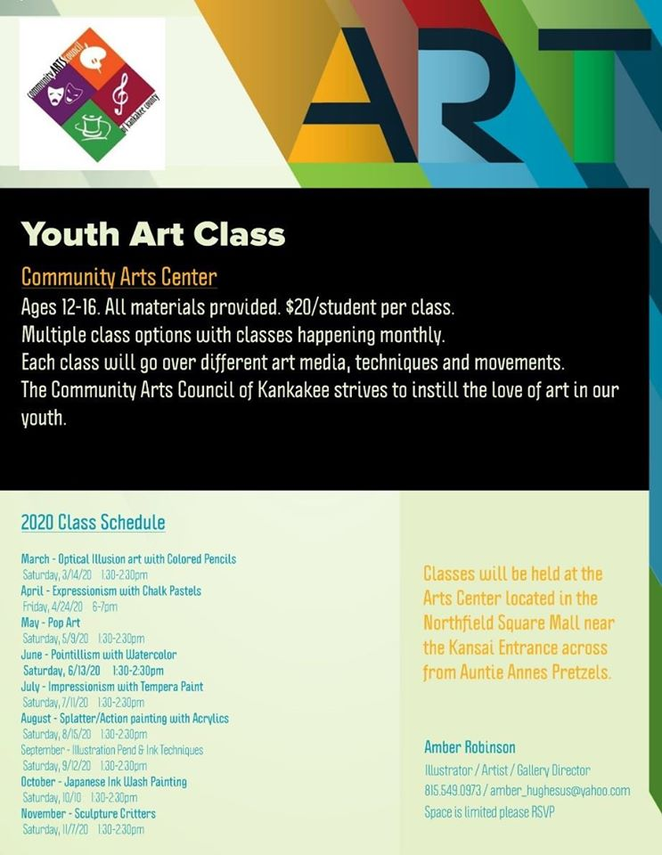 Youth Art Classes (Themed) @ Arts Center of Kankakee County