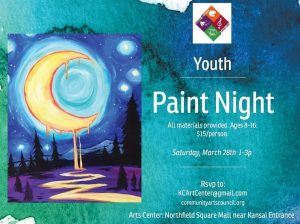 Youth Paint Night w/ Onyx @ Arts Center of Kankakee County