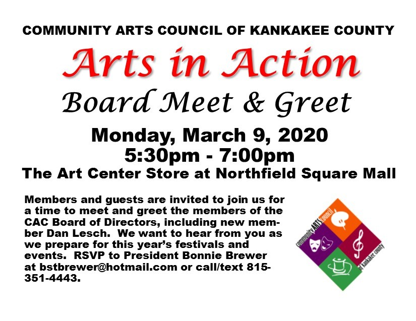 Arts in Action - March 2020 @ Northfield Square mall